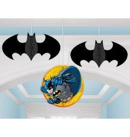 Batman Hanging Honeycomb Decor - 3ct