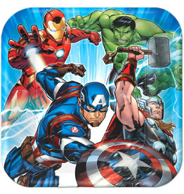 "Marvel Epic Avengers 9"" Square Plates - 8ct"
