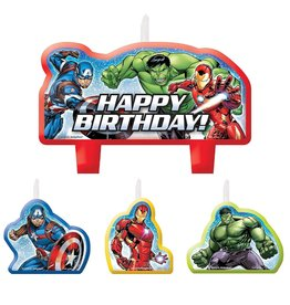 Marvel Epic Avengers Birthday Candles - 4ct
