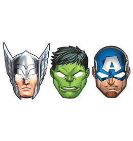 Marvel Epic Avengers Paper Masks - 8ct