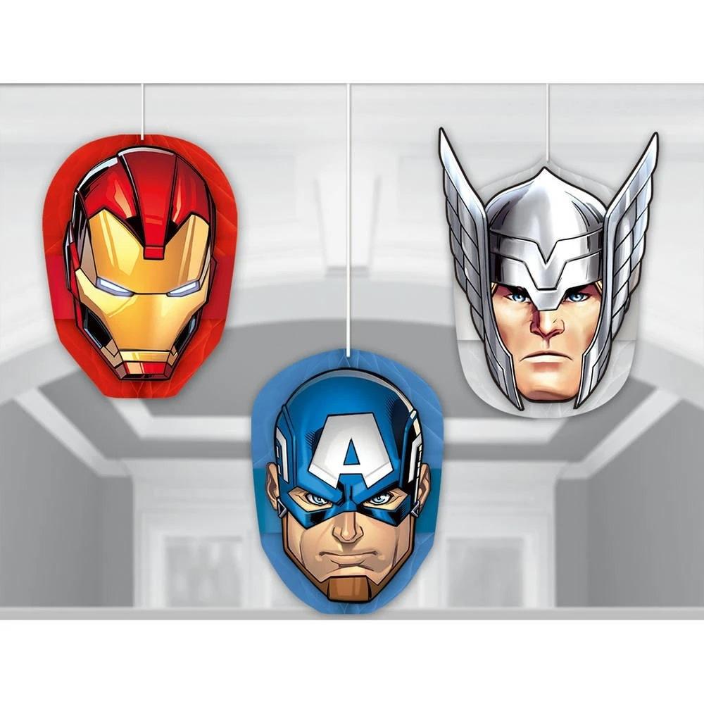 Marvel Epic Avengers Hanging Decorations - 3ct