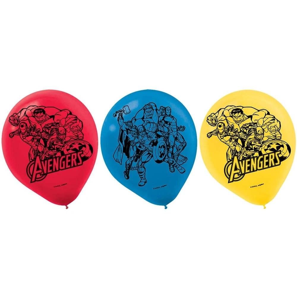 "Marvel Epic Avengers 12"" Latex Balloons - 6ct"