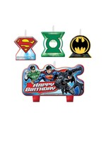 Justice League Birthday Candle Set - 4ct