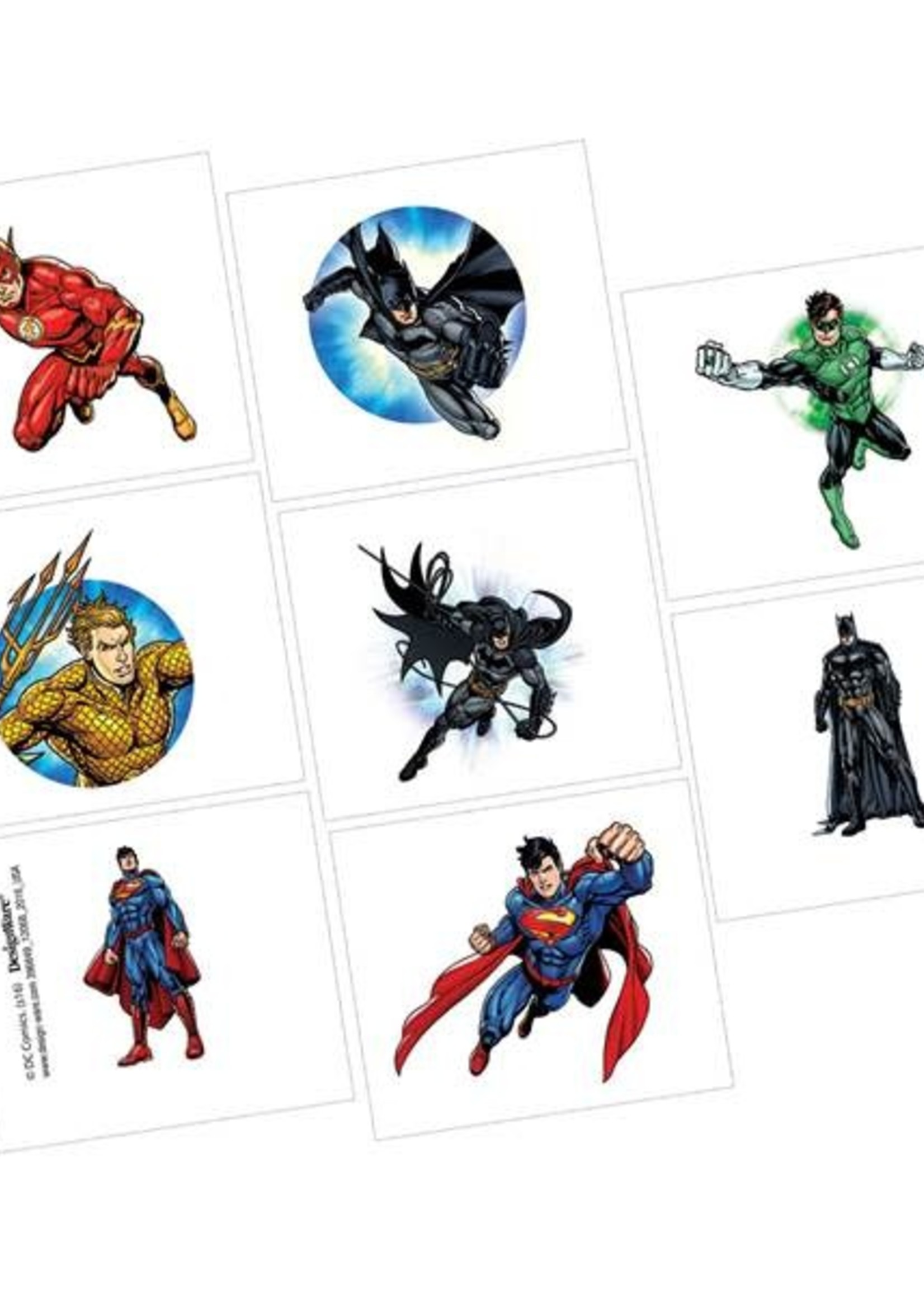 Justice League Tattoo Favors - 16ct