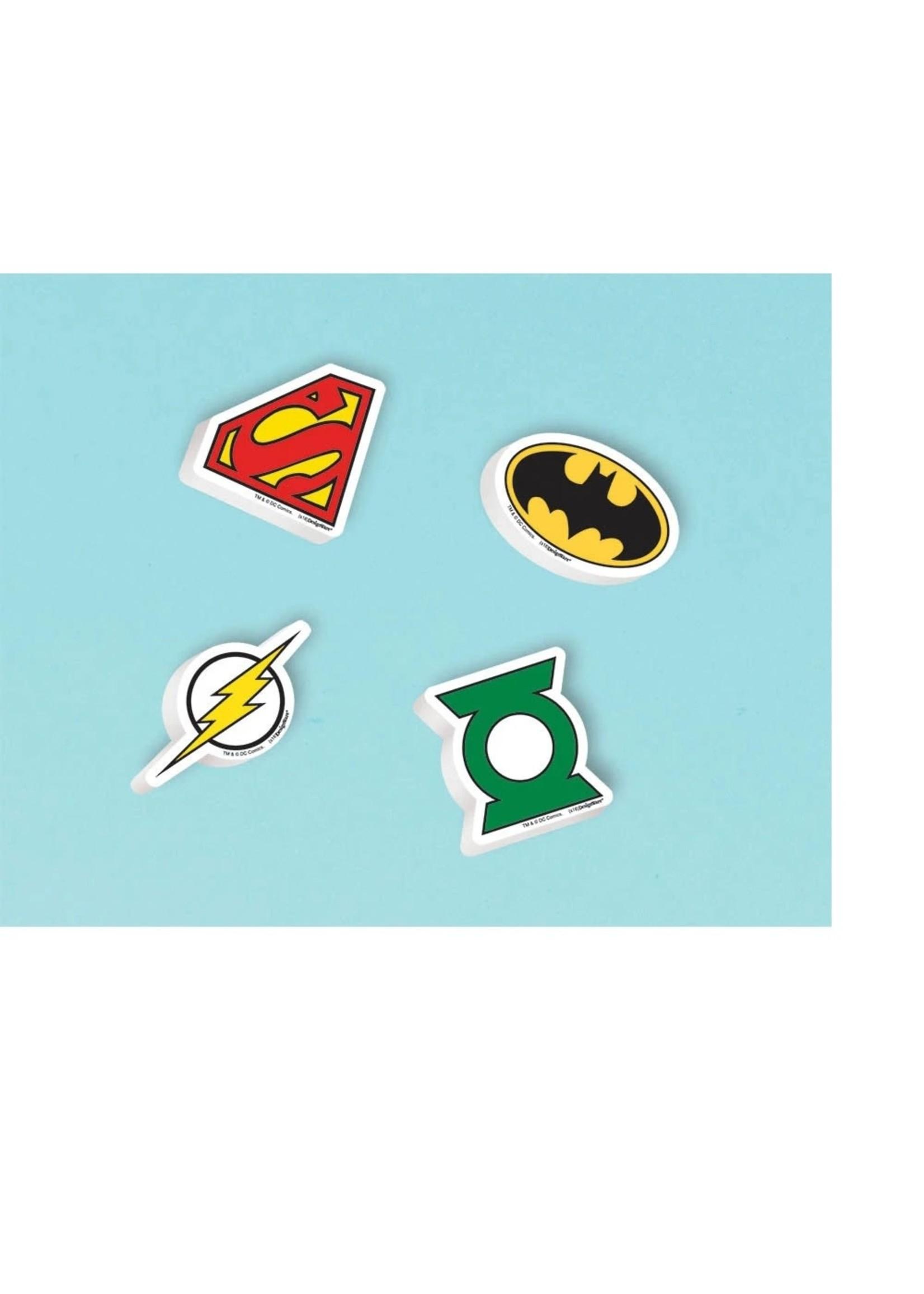 Justice League Erasers - 12ct