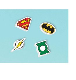 Justice League Erasers - 12ct