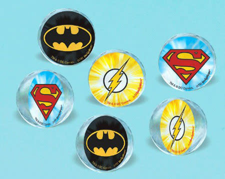 Justice League Bounce Balls - 6ct