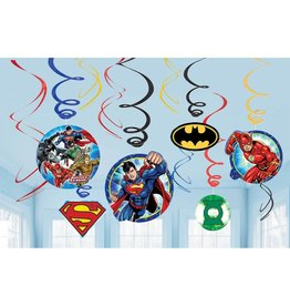 Justice League Hanging Swirls - 12ct