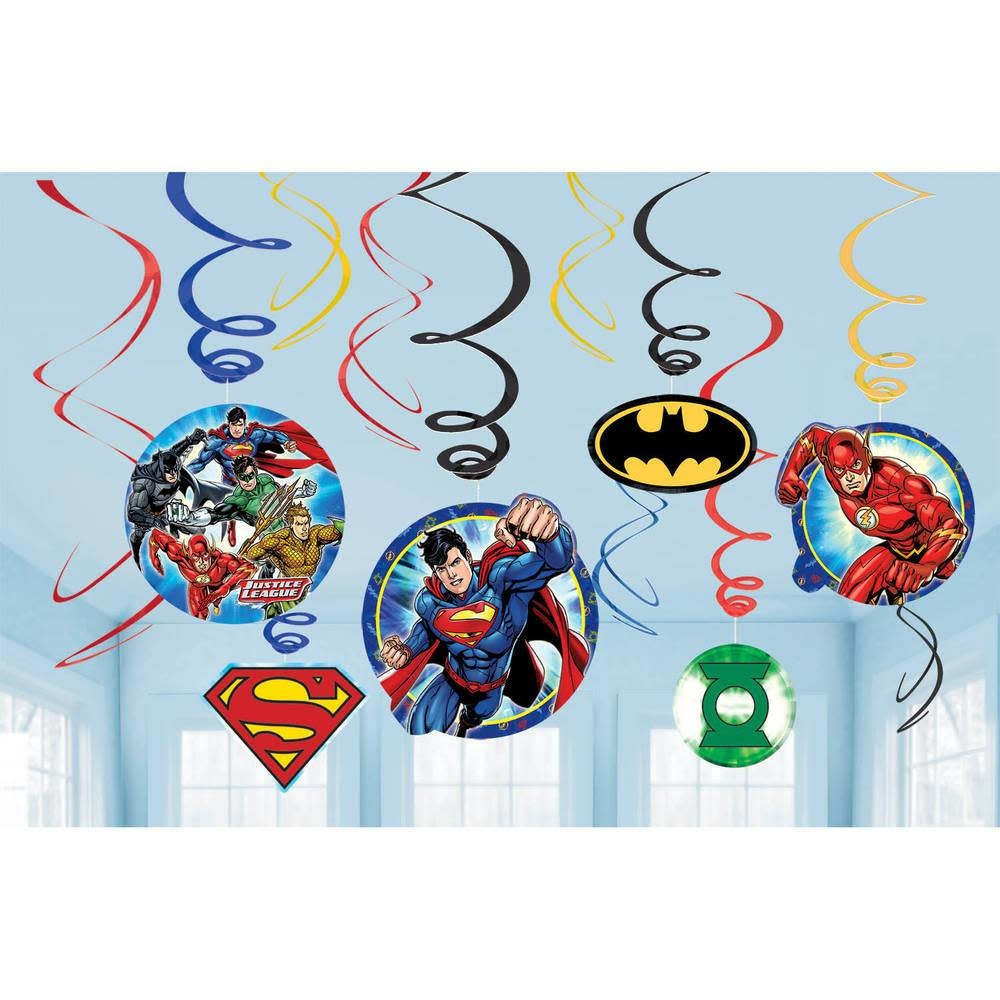 Justice League Hanging Swirls - 12ct