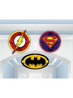 Justice League Hanging Decor - 3ct