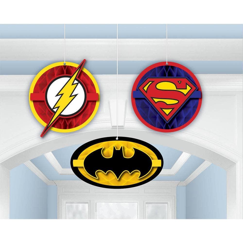 Justice League Hanging Decor - 3ct