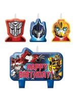 Transformers Birthday Candles - 4ct