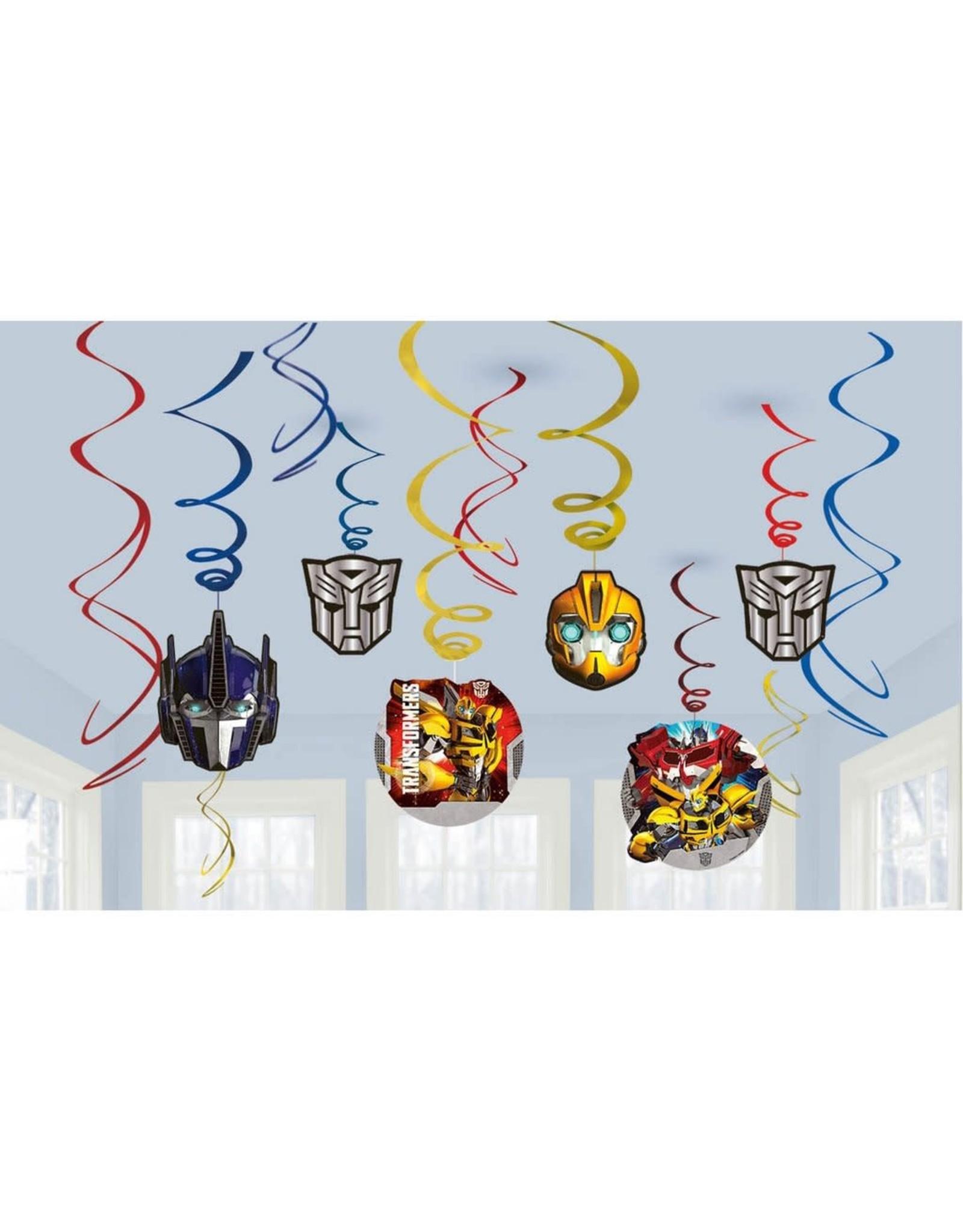 Transformers Hanging Swirls - 12ct