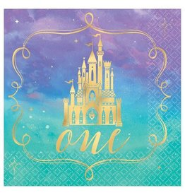 "Disney Princess ""Once Upon A Time"" 1st Birthday Beverage Napkins - 16ct"