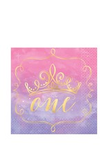 """Disney Princess """"Once Upon a Time"""" 1st Birthday Lunch Napkins - 16ct"""