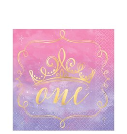 "Disney Princess ""Once Upon a Time"" 1st Birthday Lunch Napkins - 16ct"