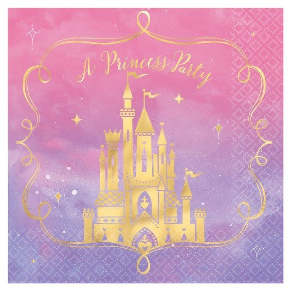 Disney Princess Once Upon a Time Lunch Napkins - 16ct