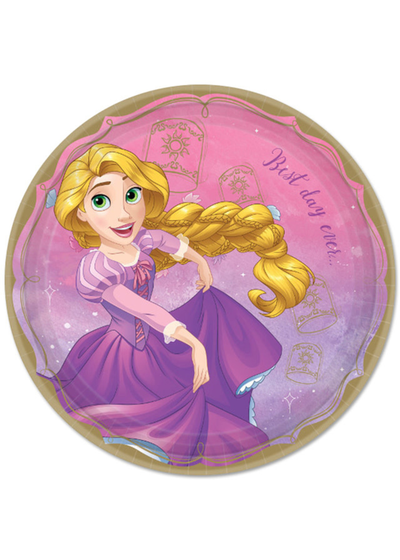 "Disney Princess Rapunzel 9"" Plates - 8ct"