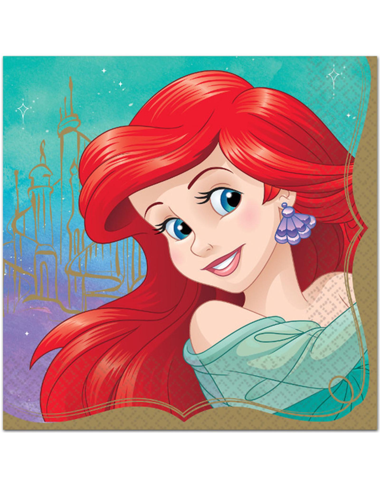 Disney Princess Ariel Lunch Napkins - 16ct