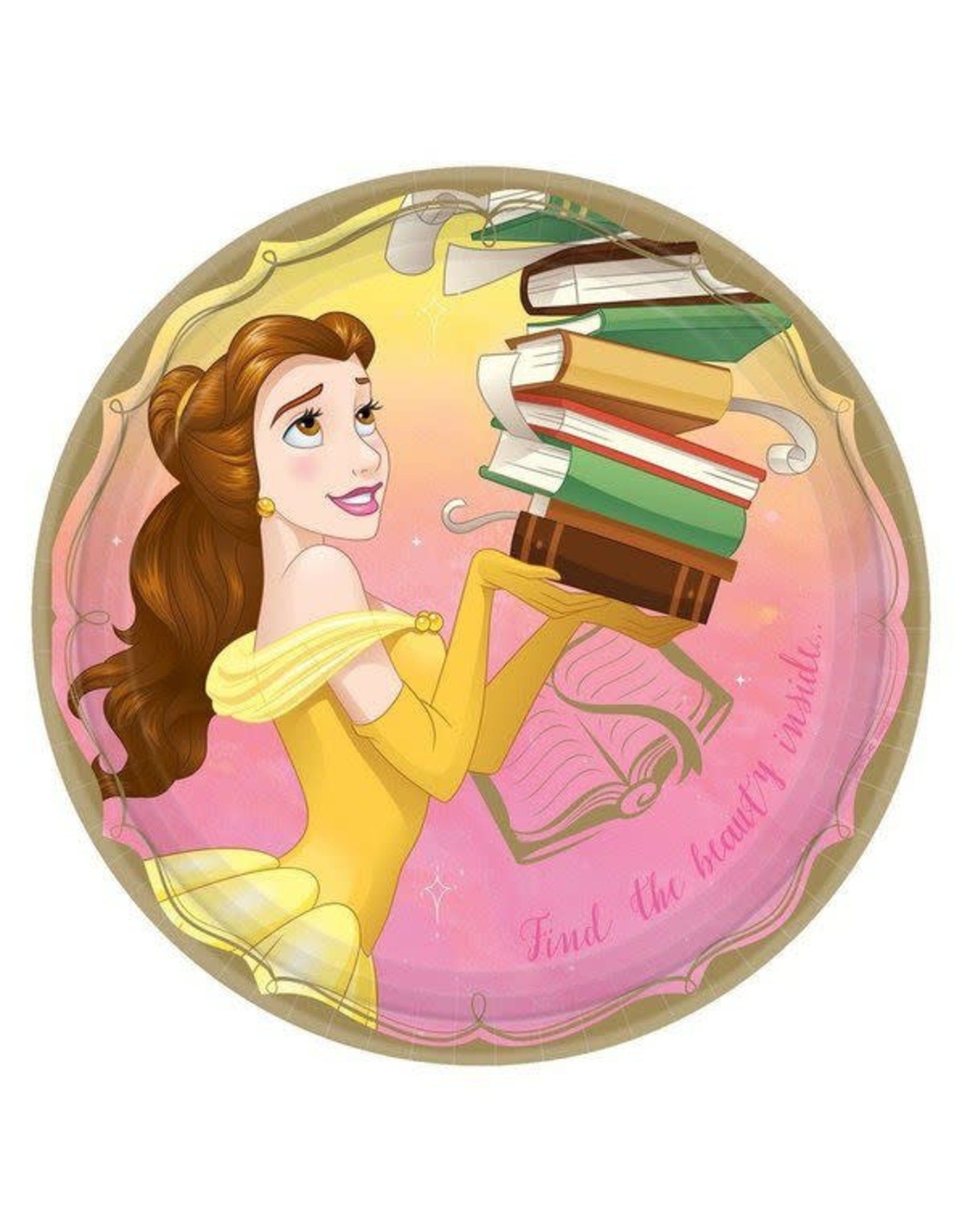 Disney Princess Belle Lunch Plates- 8ct