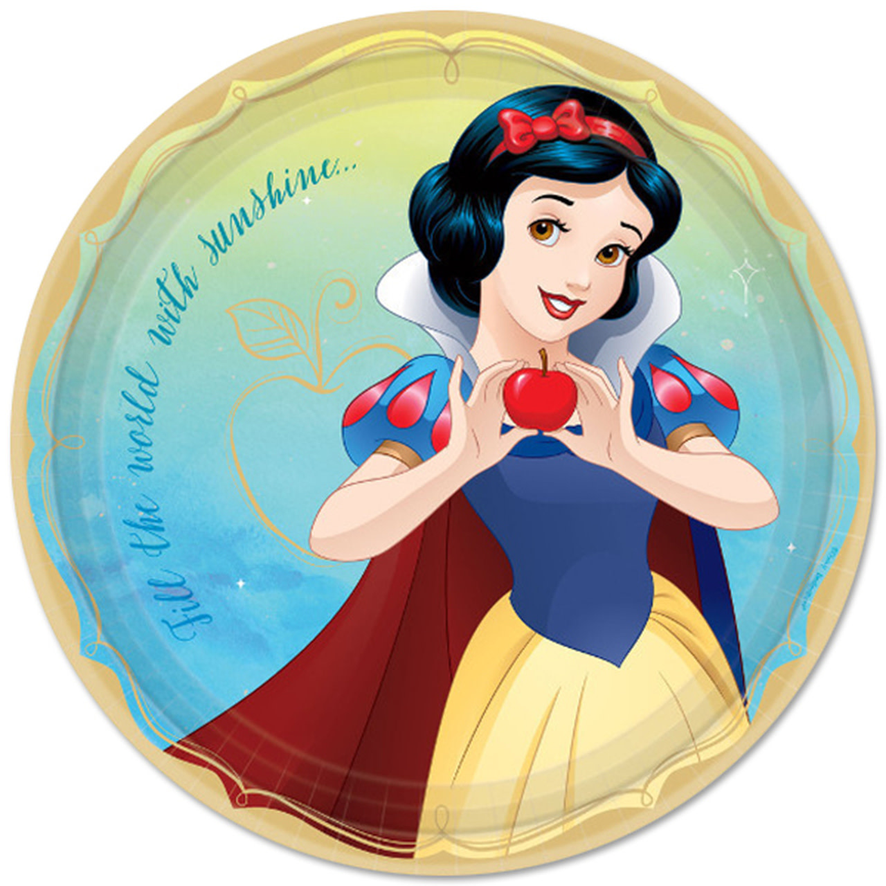 Disney Princess Snow White 9in Plates - 8ct