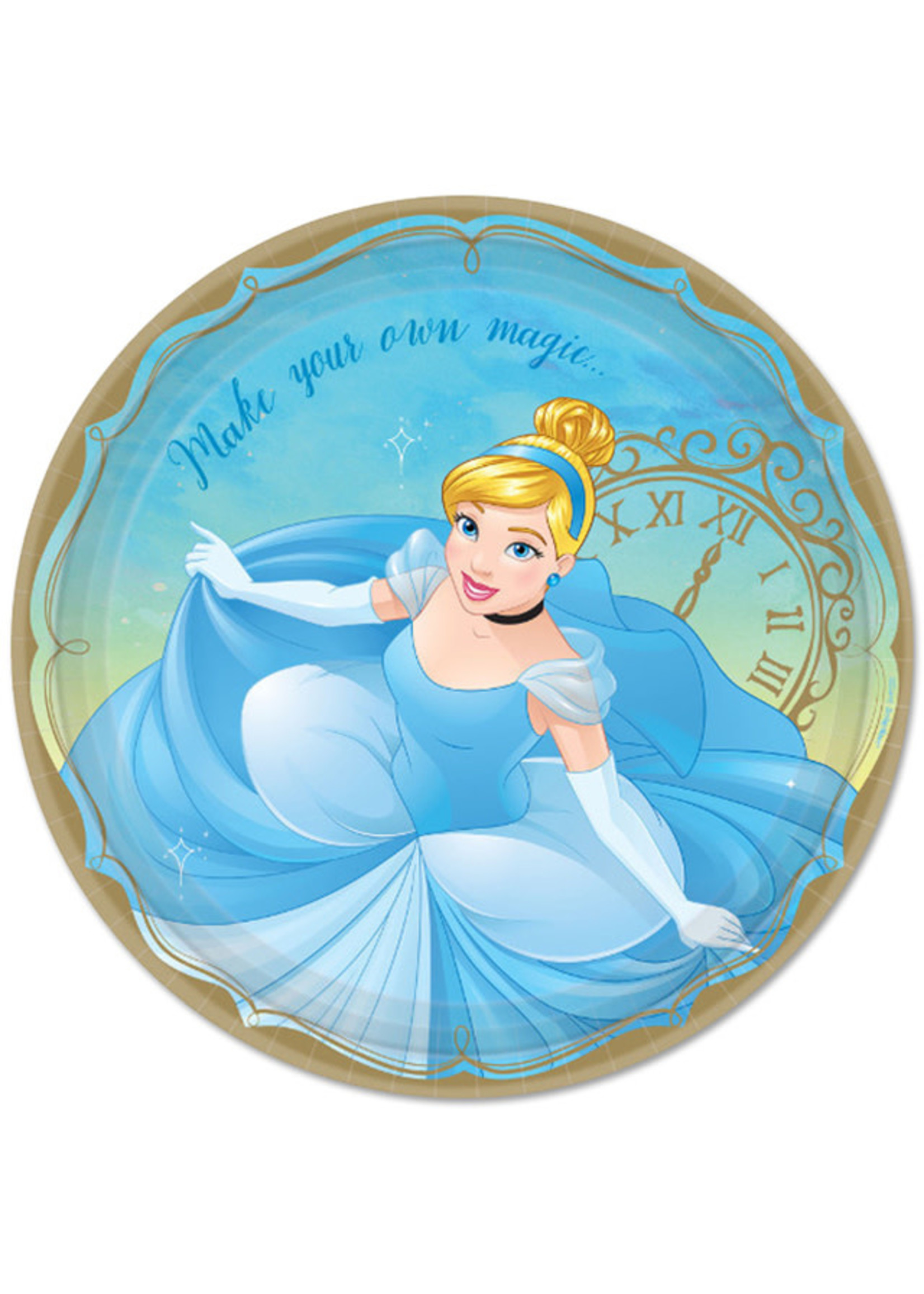 Disney Princess Cinderella 9in Plates - 8ct