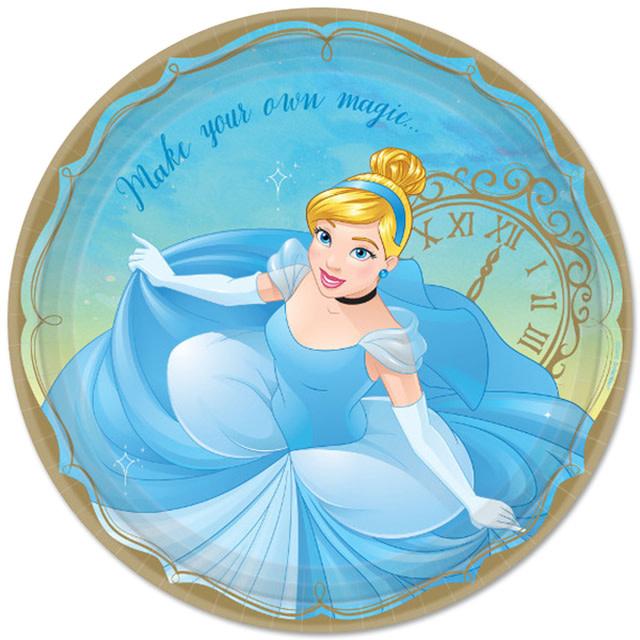 Disney Princess Cinderella 9in Plates - 8ct
