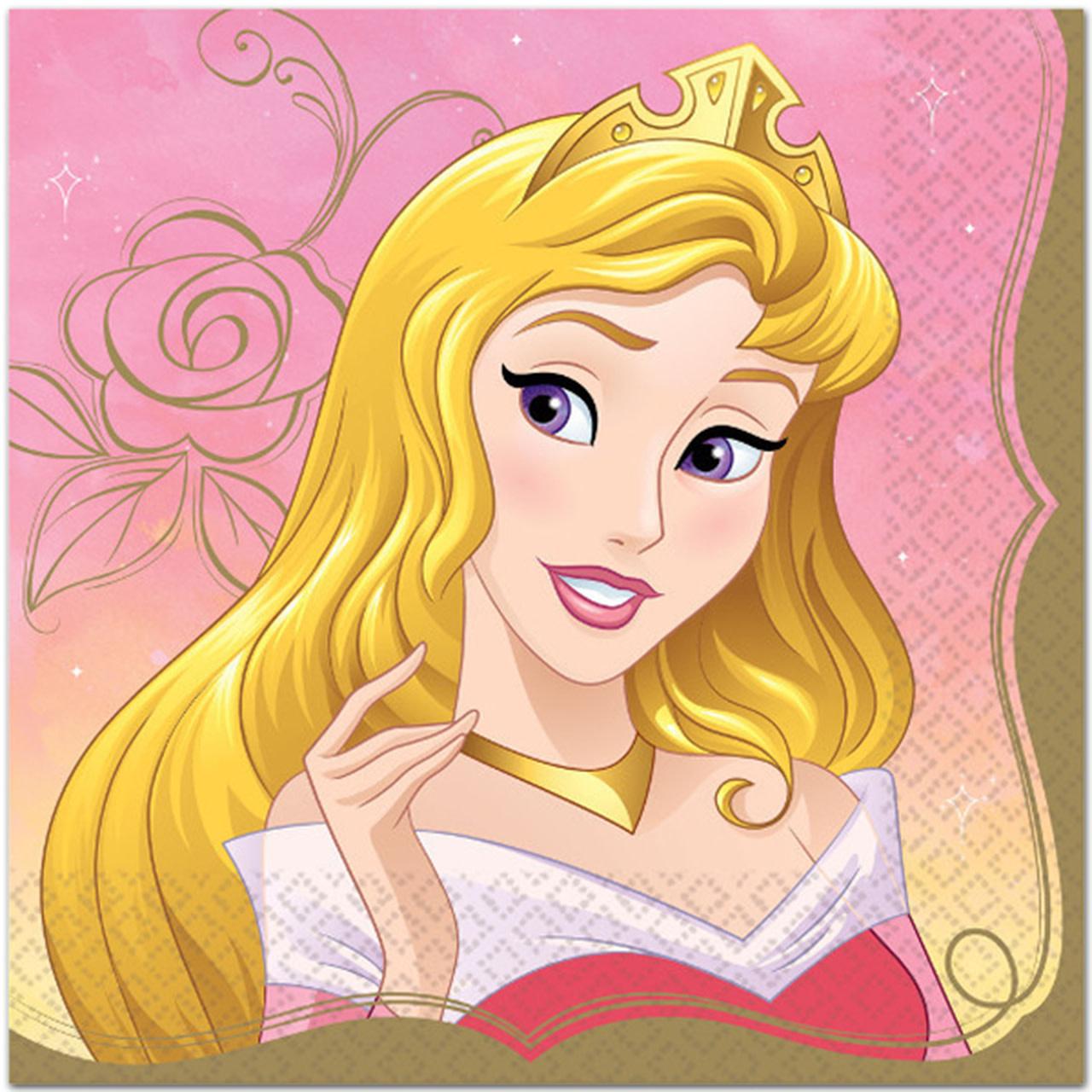 Disney Princess Aurora Lunch Napkins - 16ct