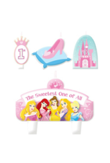 Disney Princess 1st Birthday Cake Candle Set 4ct