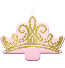 Glitter Disney Princess Once Upon a Time Crown Candle