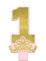 Glitter Disney Princess Once Upon a Time - 1st Birthday Candle