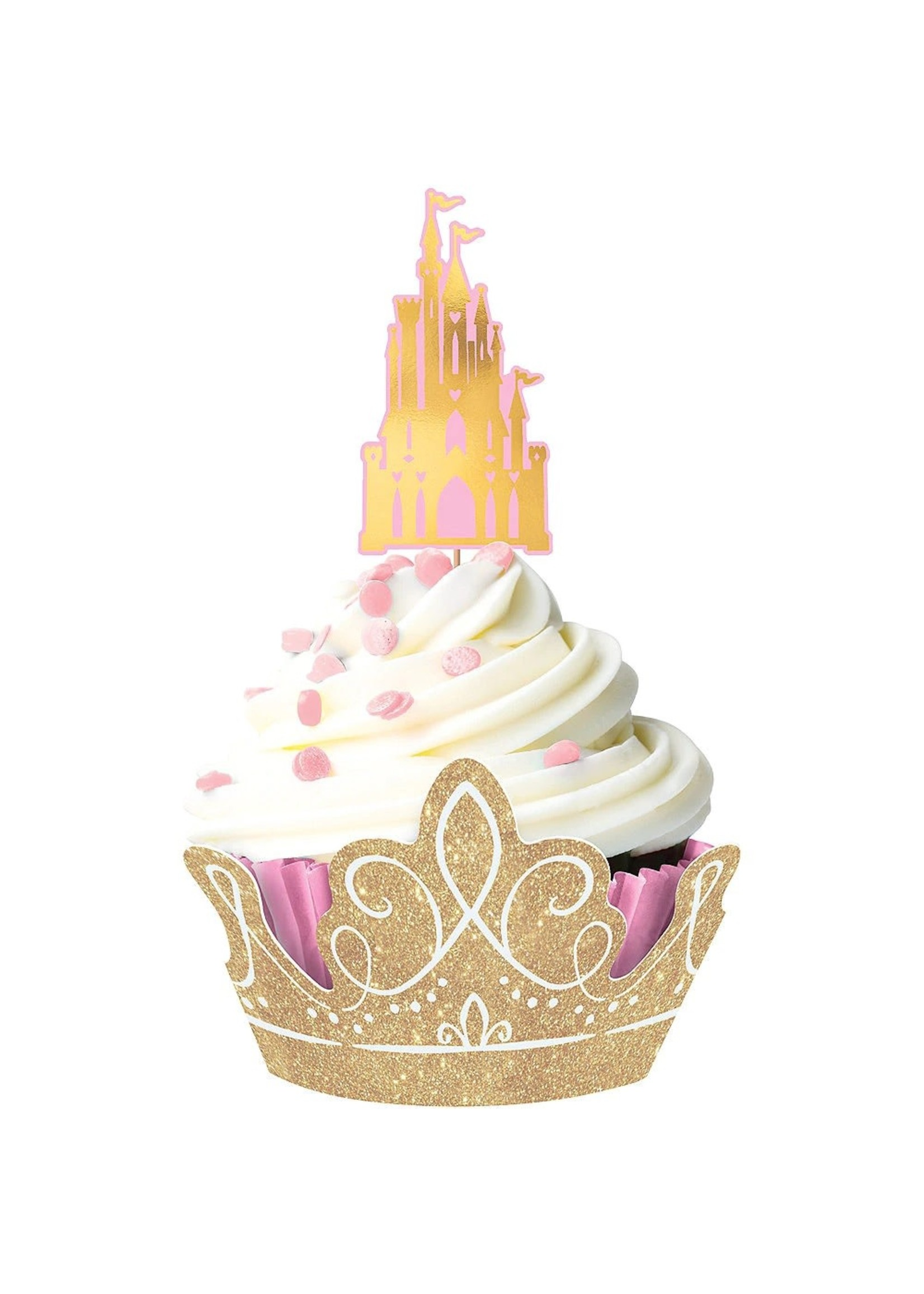 Glitter Disney Princess Once Upon a Time Cupcake Kit