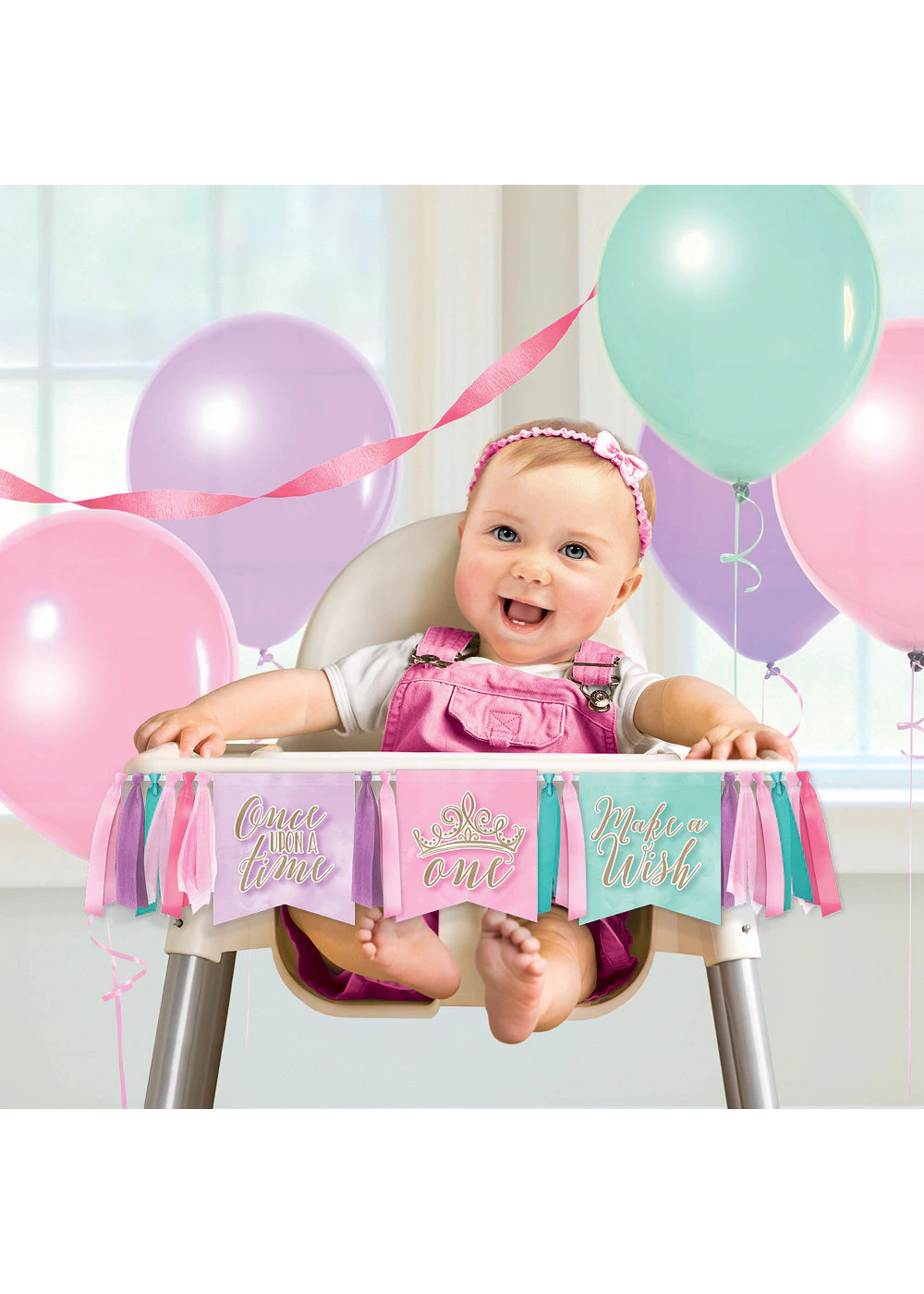 Disney Princess Once Upon a Time 1st Birthday High Chair Banner