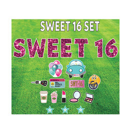 "Rental Yard Card ""Sweet 16"" - Store Pick Up ONLY"