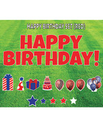 """Rental Yard Card """"Happy Birthday - Red"""" - Store Pick Up ONLY"""