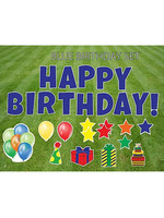 """Rental Yard Card """"Happy Birthday - Blue"""" - Store Pick Up ONLY"""