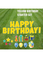 """Rental Yard Card """"Happy Birthday - Yellow"""" - Store Pick Up ONLY"""
