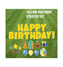 "Rental Yard Card ""Happy Birthday - Yellow"" - Store Pick Up ONLY"