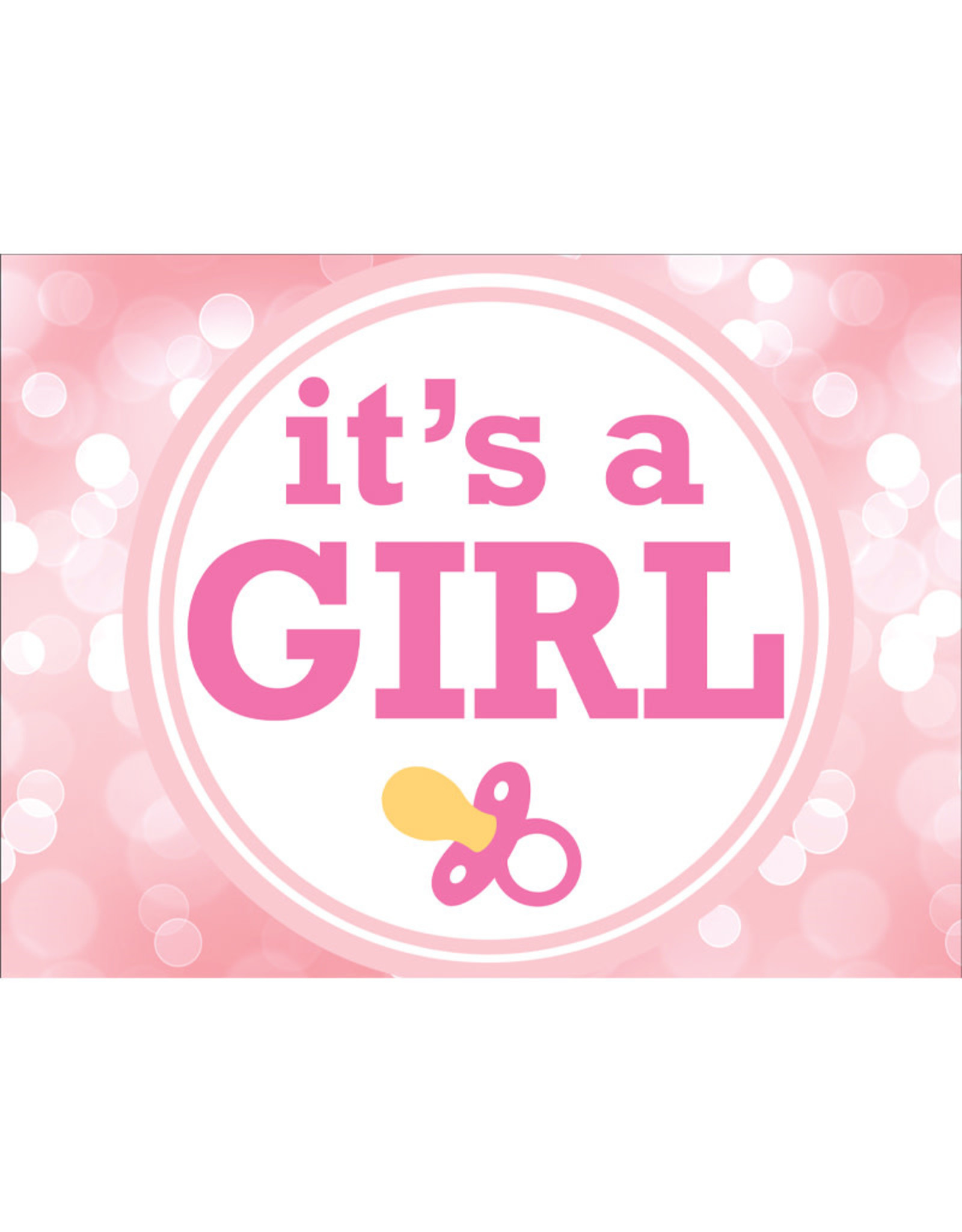 Its a Girl Yard Sign