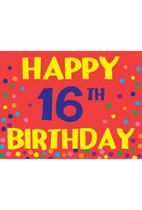 Happy 16th Birthday Yard Sign
