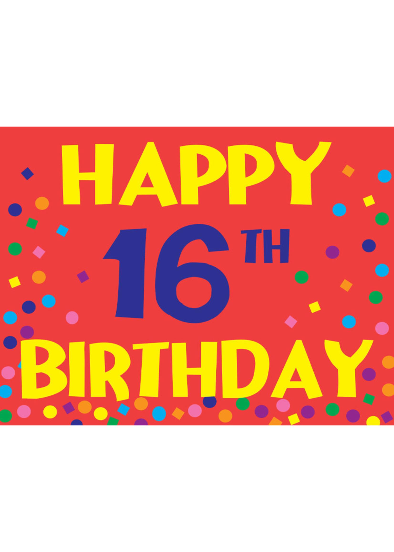 Happy 16th Birthday Yard Sign