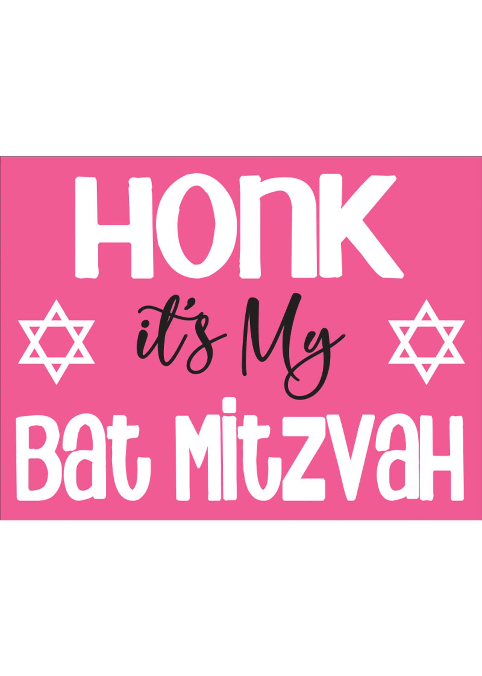 Honk its my Bat Mitzvah Yard Sign