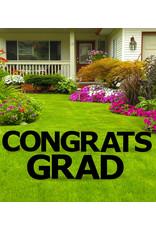 Congrats Grad Black Yard Signs
