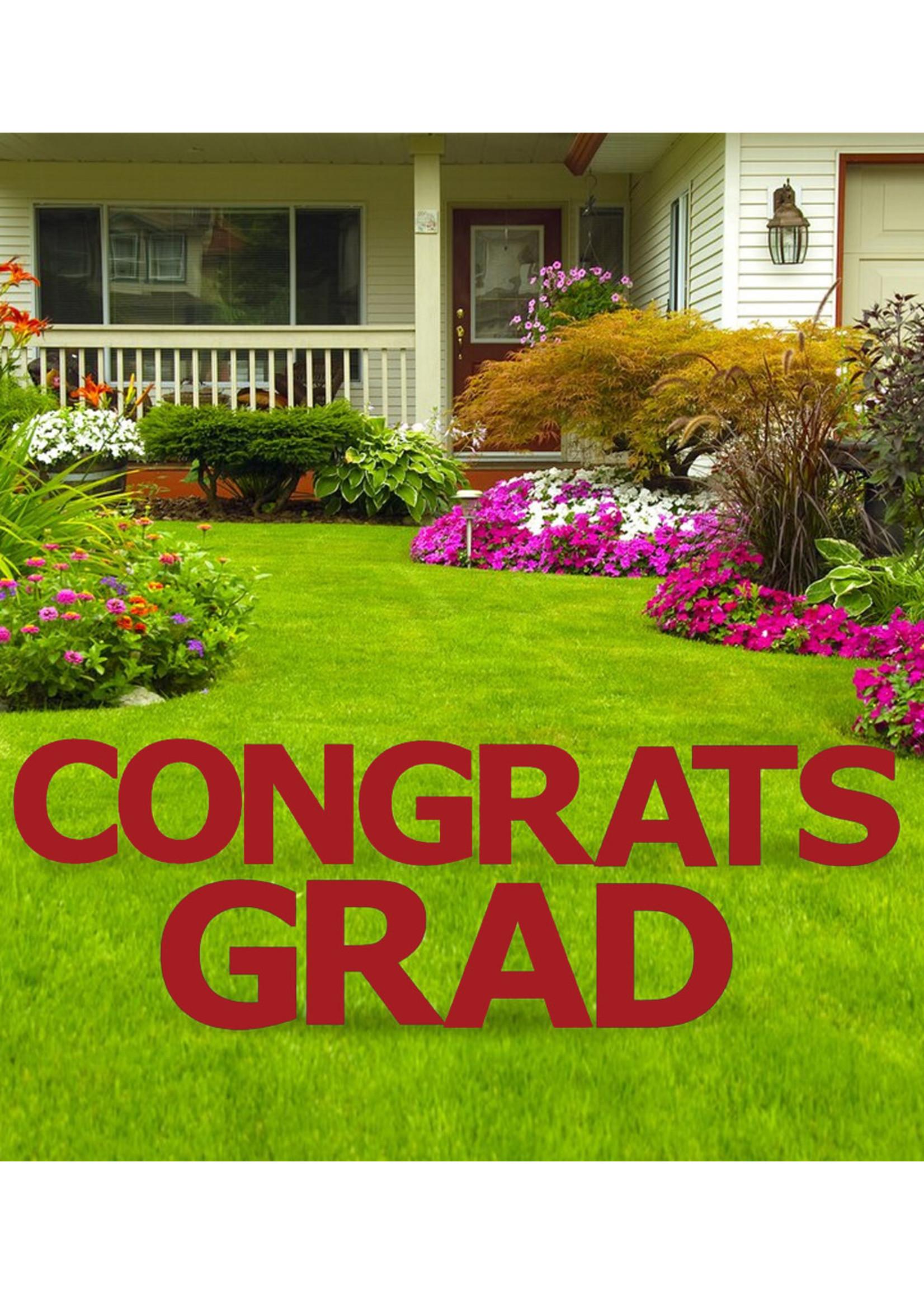 Congrats Grad Red Yard Signs