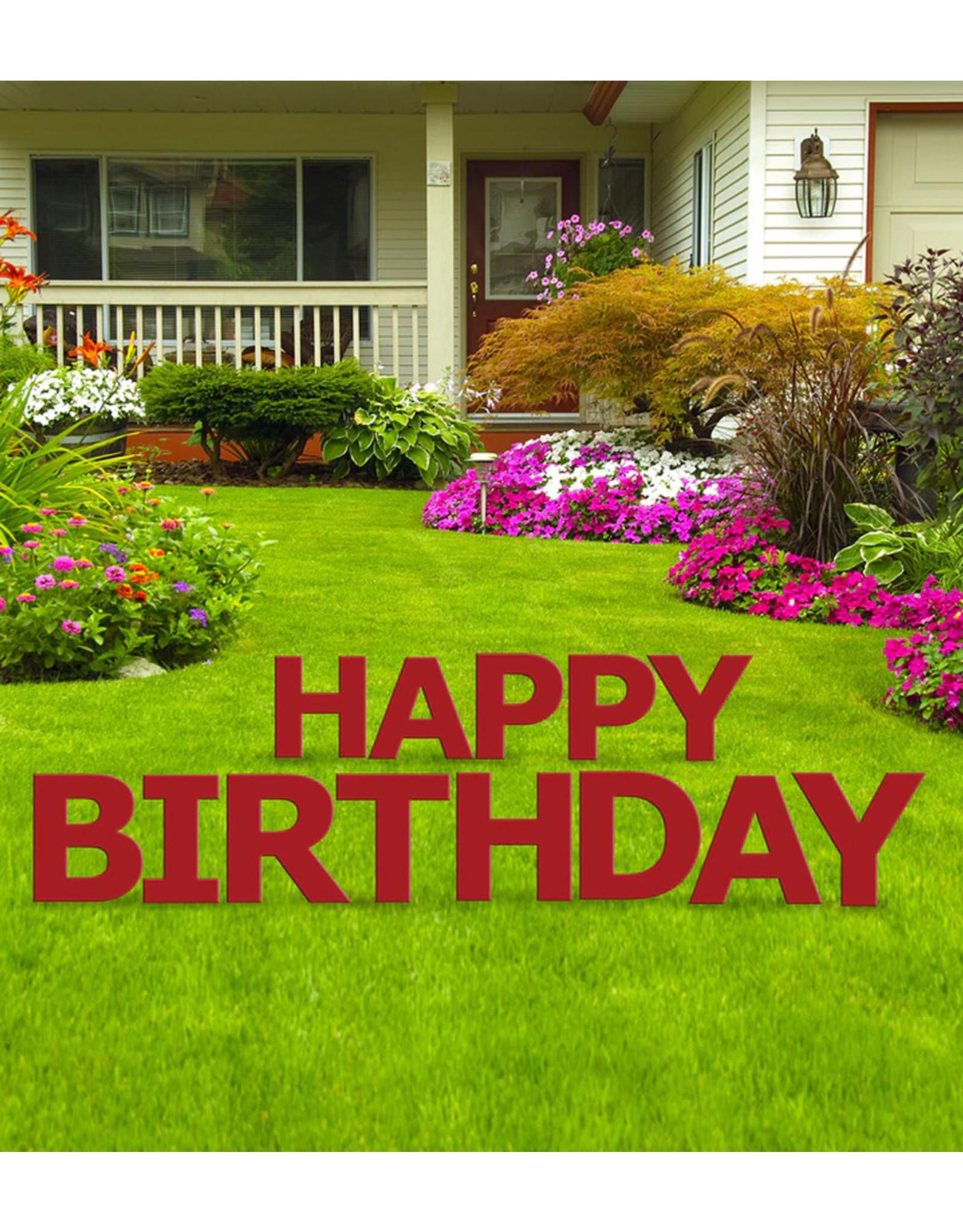 Happy Birthday Red Yard Signs