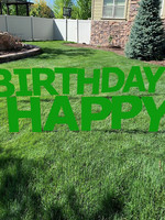 Happy Birthday Green Yard Signs