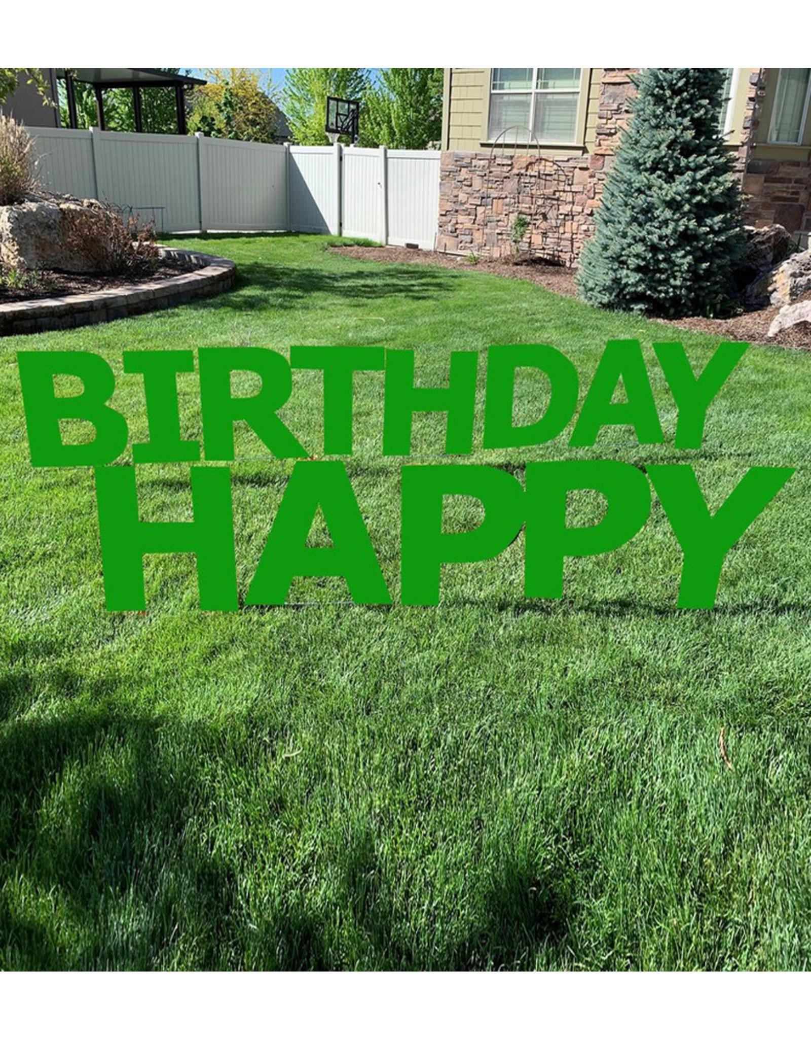 Happy Birthday Green Yard Signs