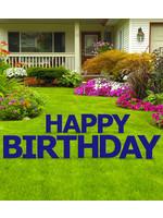 Happy Birthday Dark Navy Blue Yard Signs