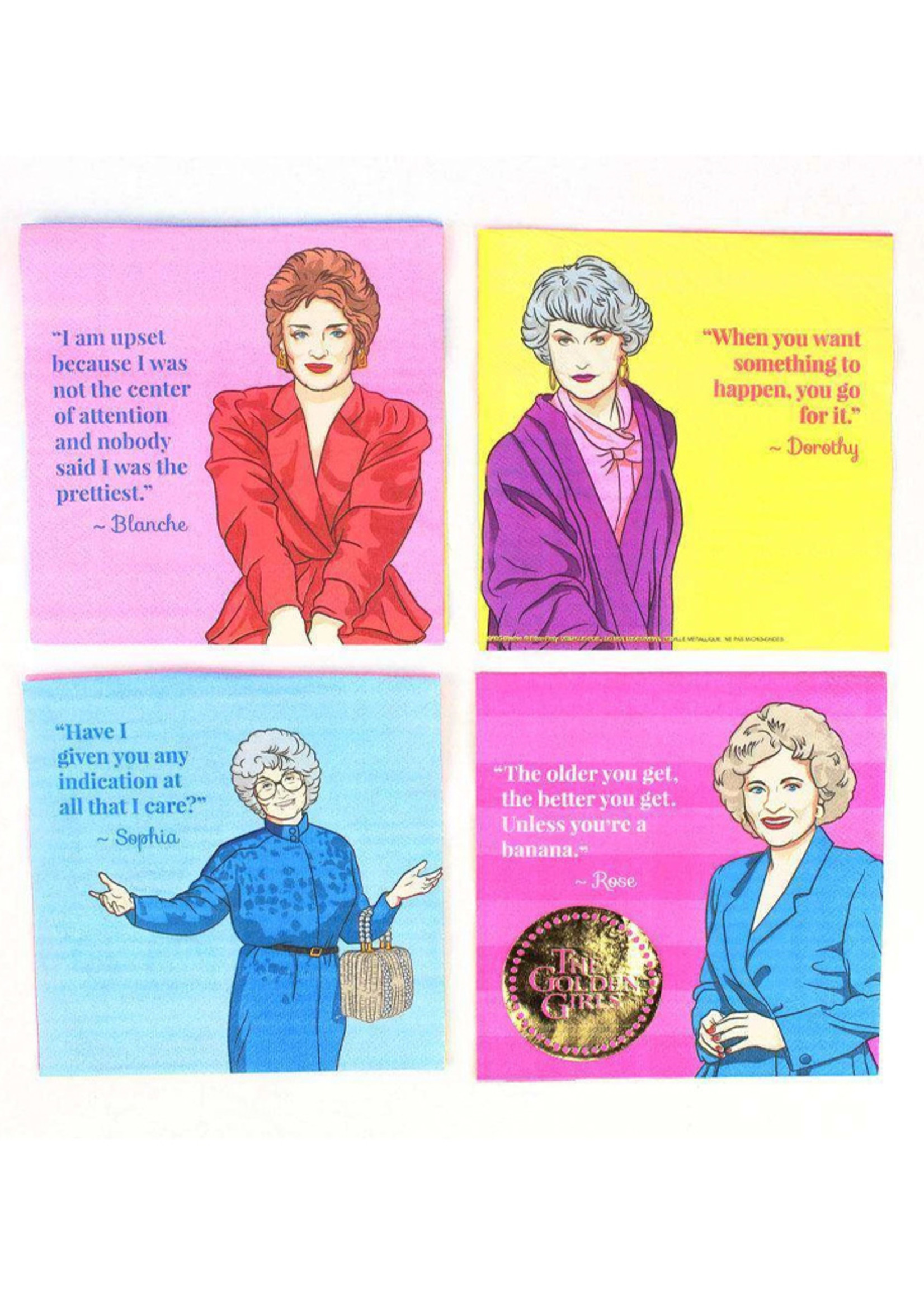 PRIME PARTY Golden Girls Luncheon Napkins (16 Pack)