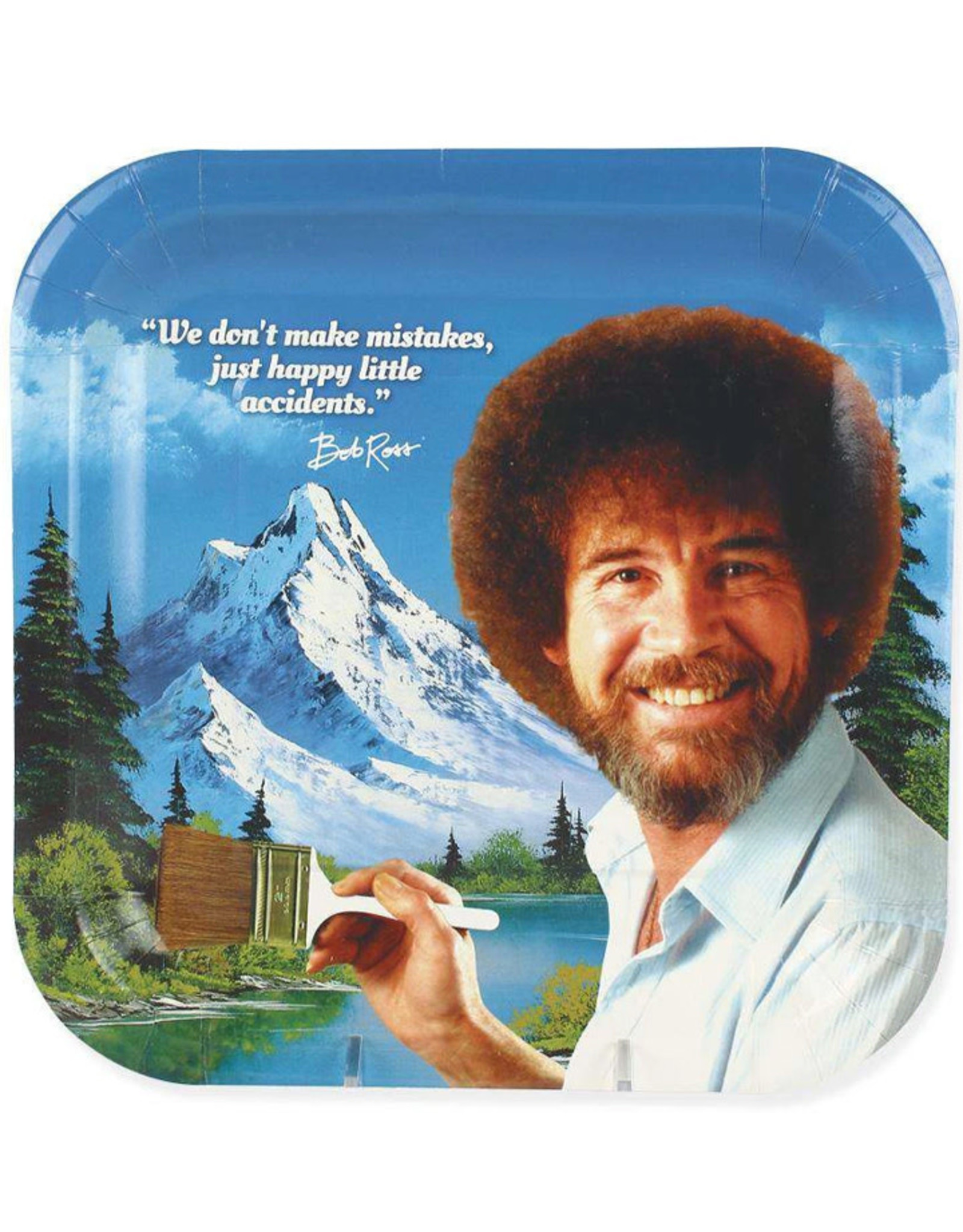 PRIME PARTY Bob Ross Classic Dinner Plates (8 Pack)